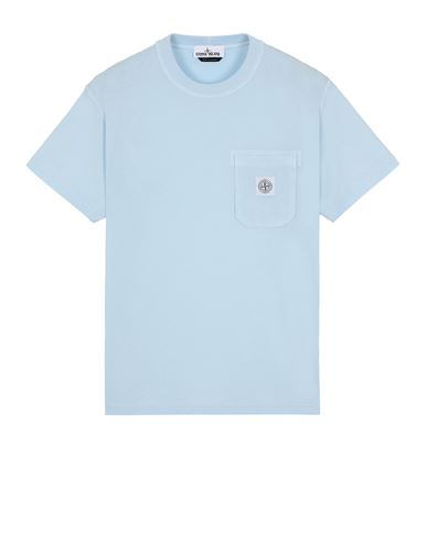 STONE ISLAND 21957 'FISSATO' TREATMENT  Short sleeve t-shirt Man Sky Blue EUR 125