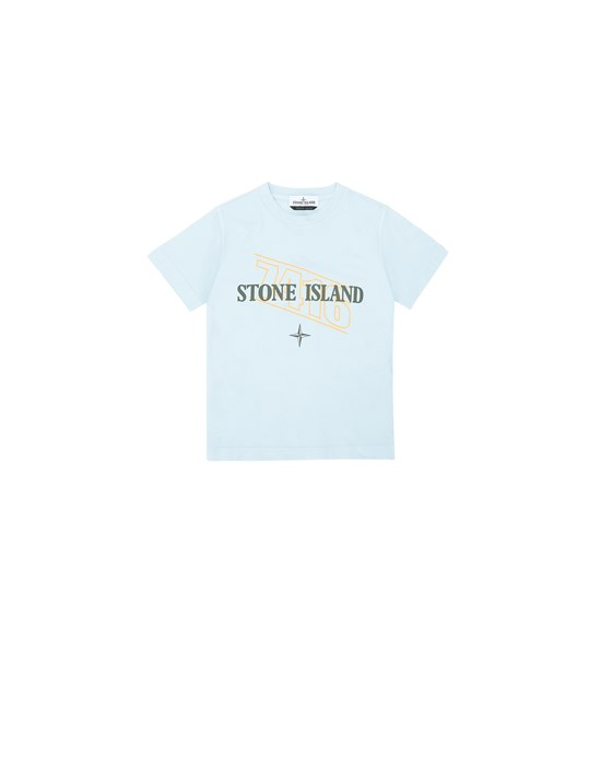短袖 T 恤 21054 'SIGN LETTERING THREE' PRINT  STONE ISLAND JUNIOR - 0