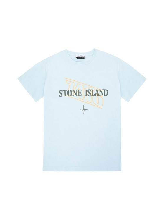 "T-Shirt Herr 21054 ""SIGN LETTERING THREE"" PRINT Front STONE ISLAND TEEN"