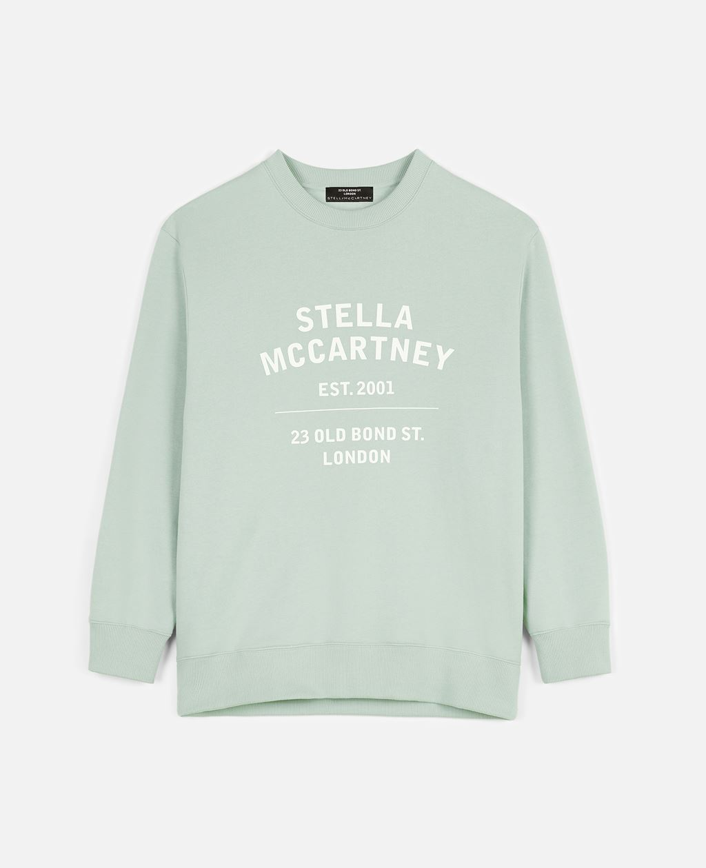 Stella Mccartney Cottons STELLA MCCARTNEY MINT 23 OBS ORGANIC COTTON SWEATSHIRT