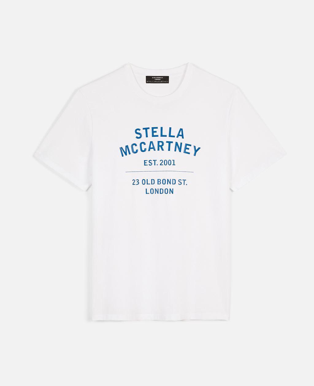 Stella Mccartney STELLA MCCARTNEY WHITE 23 OBS ORGANIC COTTON T-SHIRT