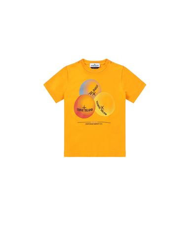 STONE ISLAND KIDS 21053 'BUBBLE GUM ONE' PRINT  T-shirt manches courtes Homme Mandarine EUR 79