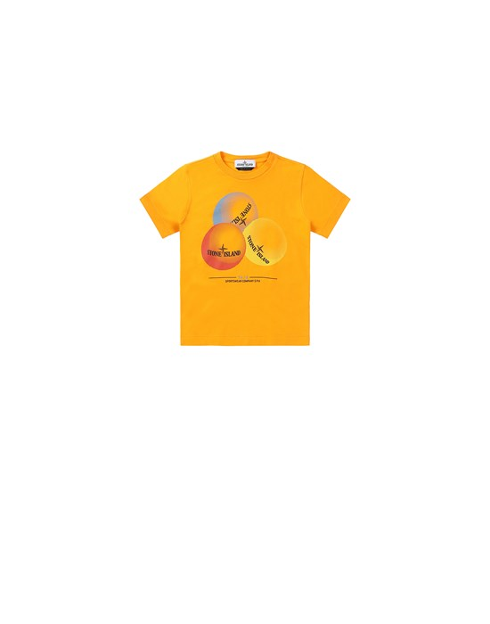 STONE ISLAND BABY 21053 'BUBBLE GUM ONE' PRINT Short sleeve t-shirt Man Orange