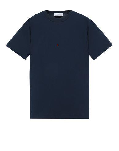 STONE ISLAND 216X3 STONE ISLAND MARINA<br>POLYESTER SEAQUAL® YARN/COTTON JERSEY  Short sleeve t-shirt Man Avio Blue EUR 149
