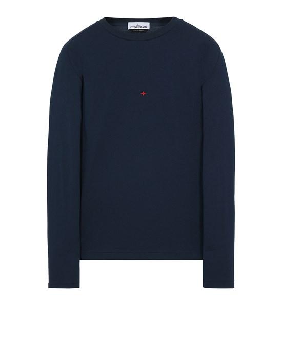 Long sleeve t-shirt Man 215X3 STONE ISLAND MARINA<br>POLYESTER SEAQUAL® YARN/COTTON JERSEY Front STONE ISLAND