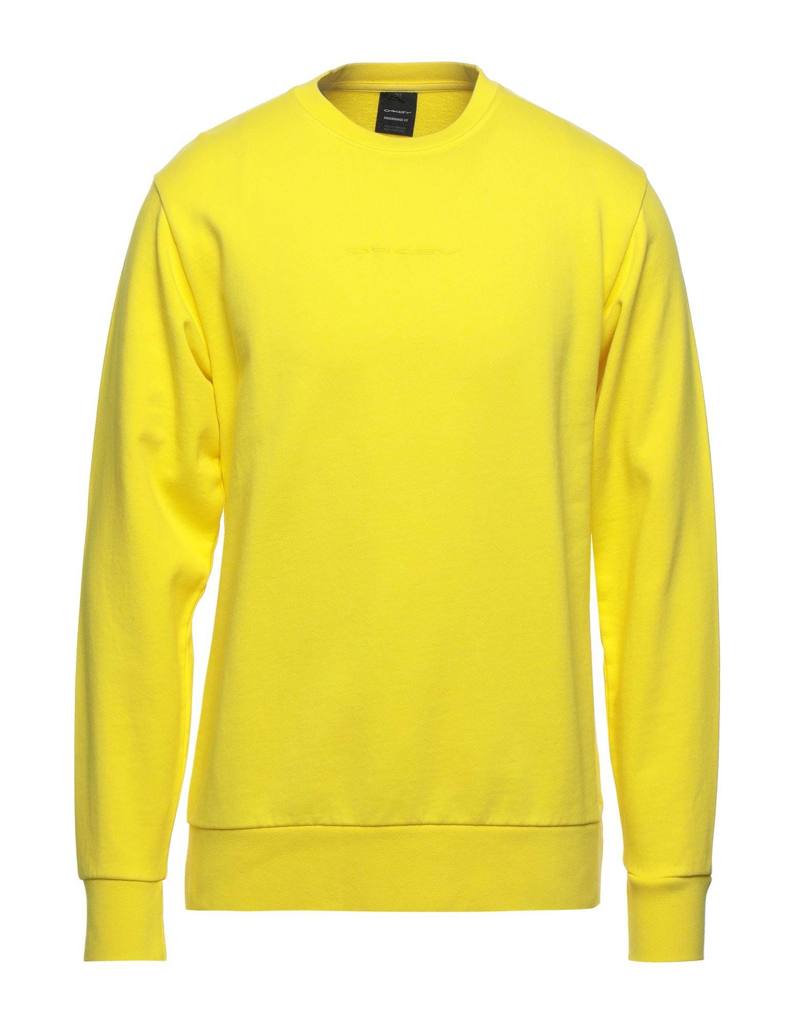 《セール開催中》OAKLEY メンズ スウェットシャツ イエロー S コットン 100%