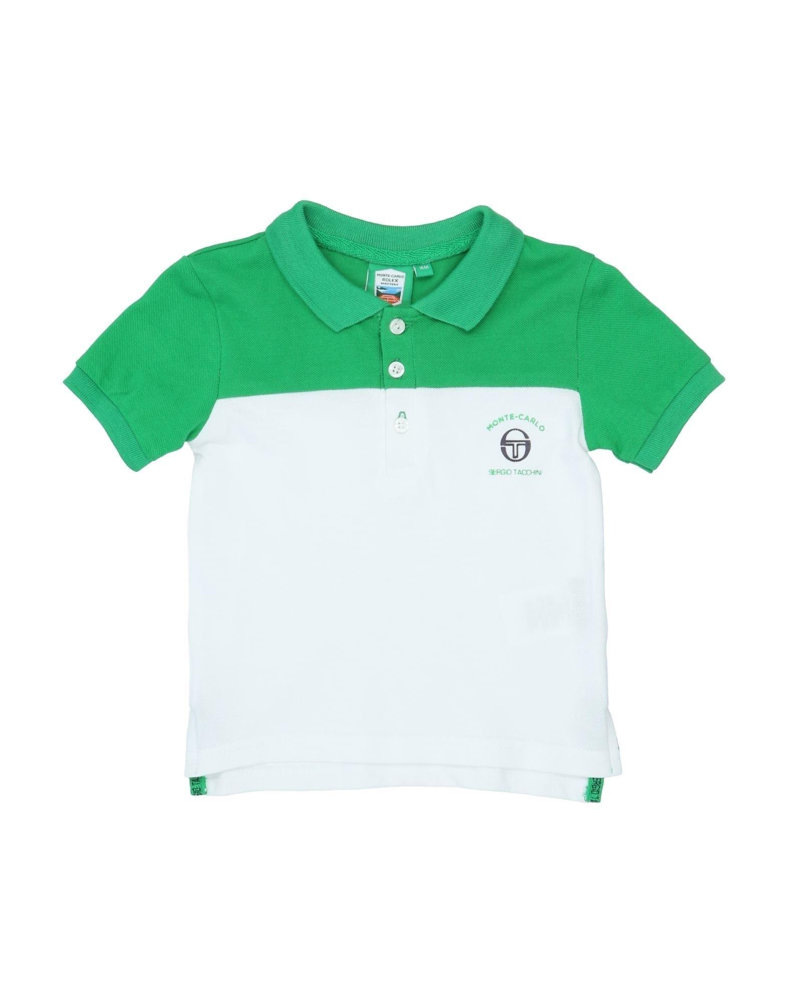《セール開催中》SERGIO TACCHINI ボーイズ 0-24 ヶ月 ポロシャツ グリーン 18 コットン 100%