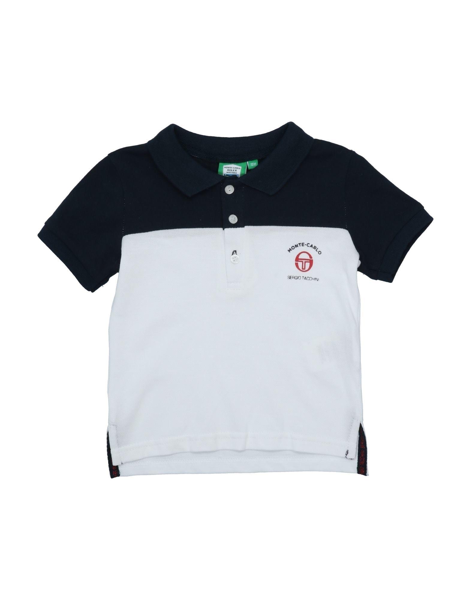 《セール開催中》SERGIO TACCHINI ボーイズ 0-24 ヶ月 ポロシャツ ダークブルー 18 コットン 100%