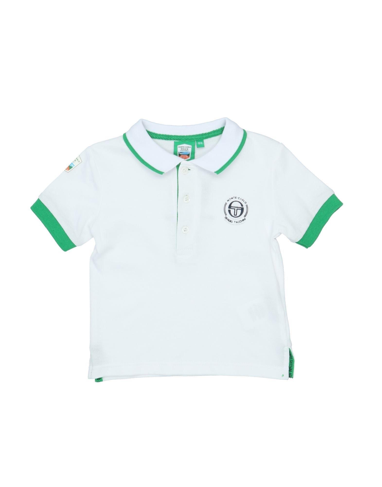 《セール開催中》SERGIO TACCHINI ボーイズ 0-24 ヶ月 ポロシャツ ホワイト 18 コットン 100%
