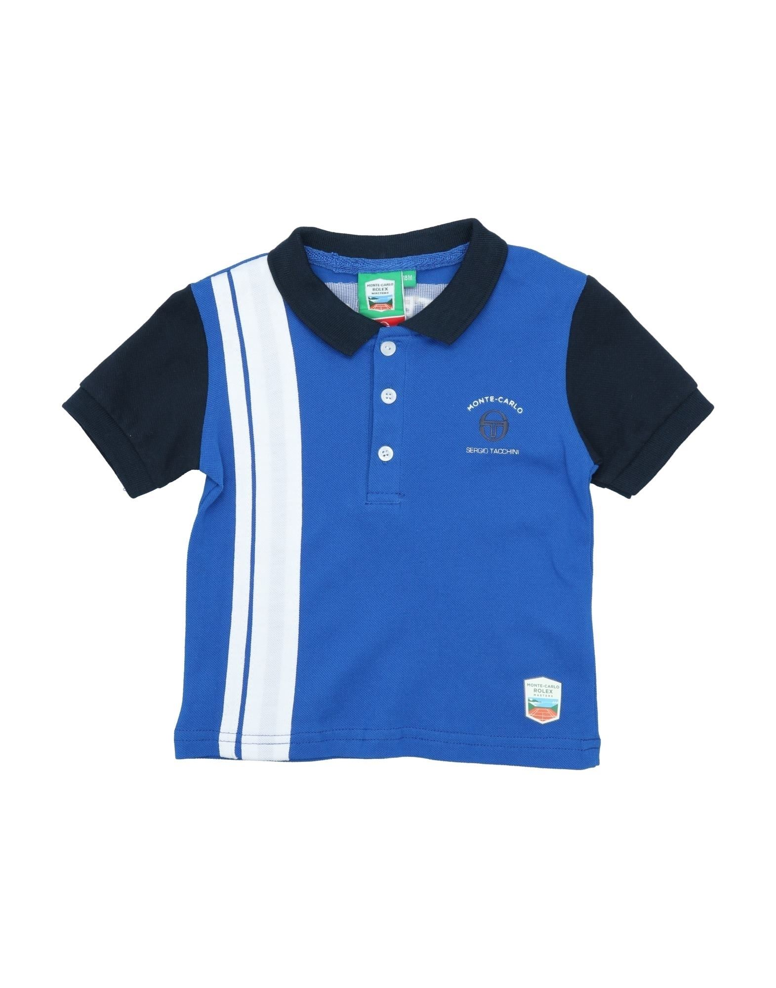 《セール開催中》SERGIO TACCHINI ボーイズ 0-24 ヶ月 ポロシャツ ブルー 18 コットン 100%