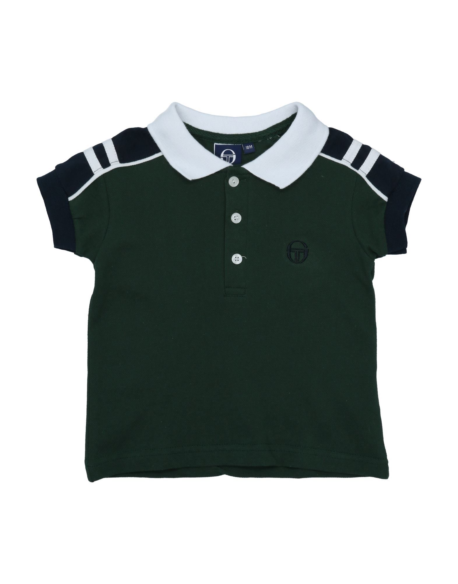 《セール開催中》SERGIO TACCHINI ボーイズ 0-24 ヶ月 ポロシャツ ダークグリーン 18 コットン 100%