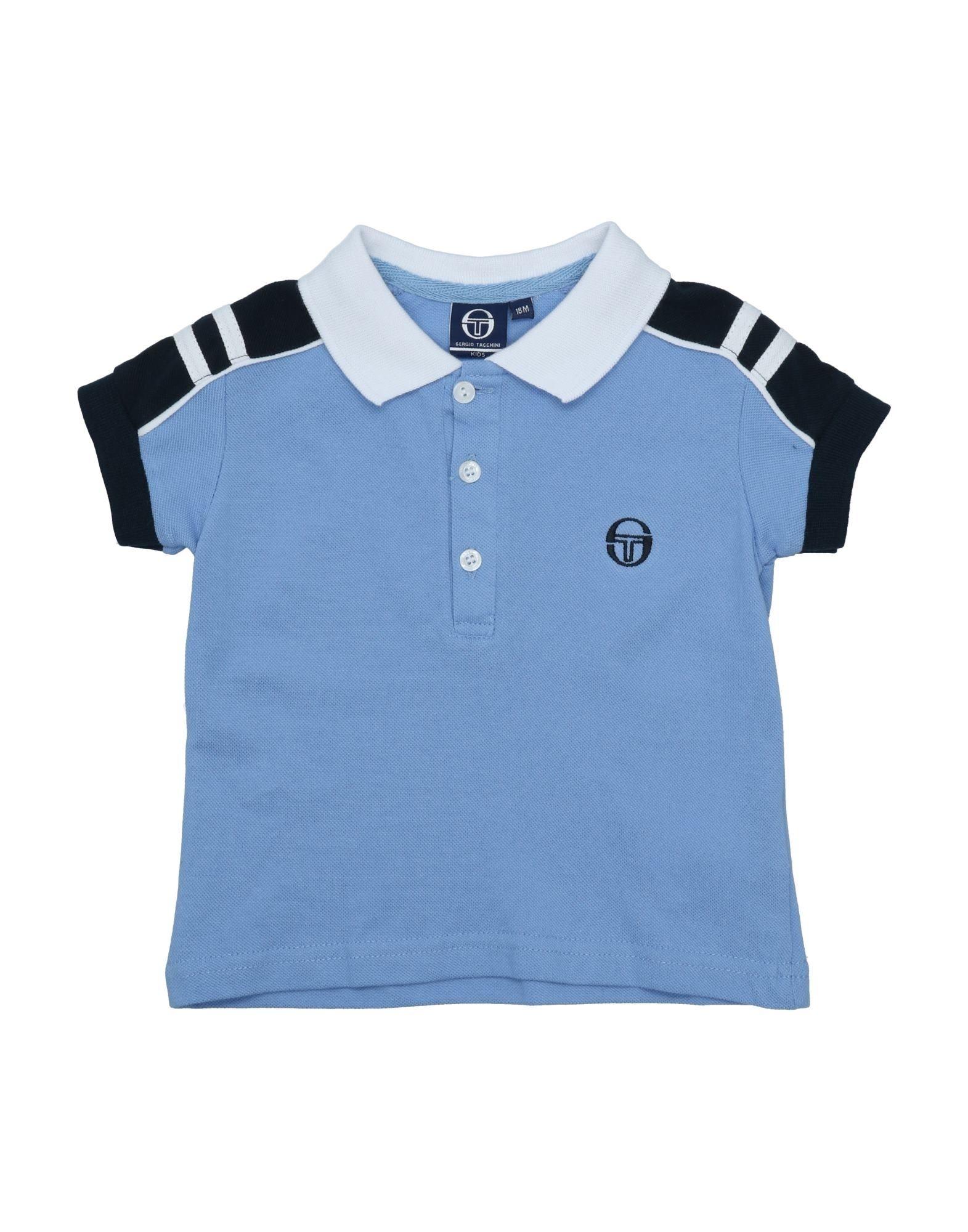 《セール開催中》SERGIO TACCHINI ボーイズ 0-24 ヶ月 ポロシャツ スカイブルー 18 コットン 100%