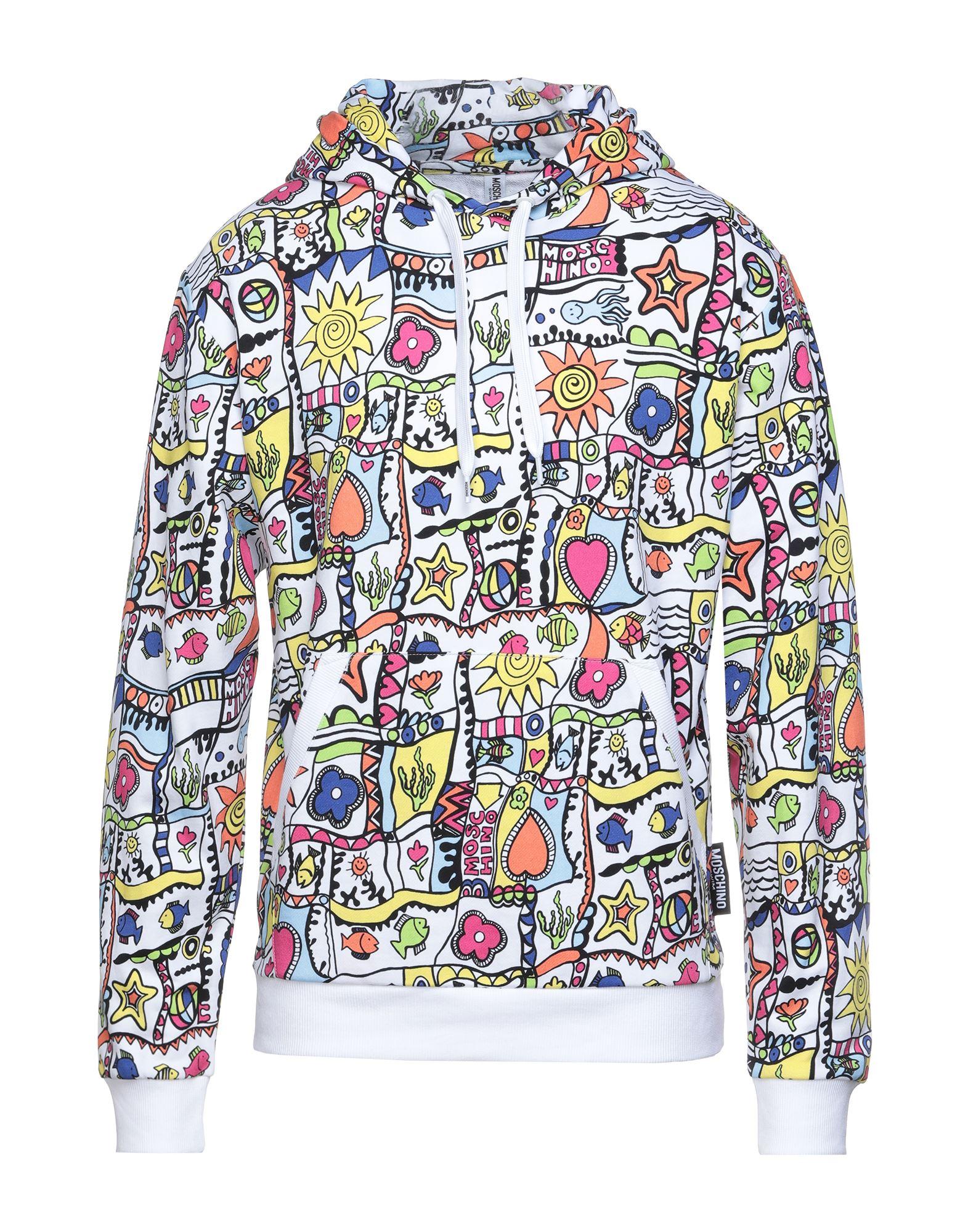 《セール開催中》MOSCHINO メンズ スウェットシャツ ホワイト S コットン 100% / ポリウレタン