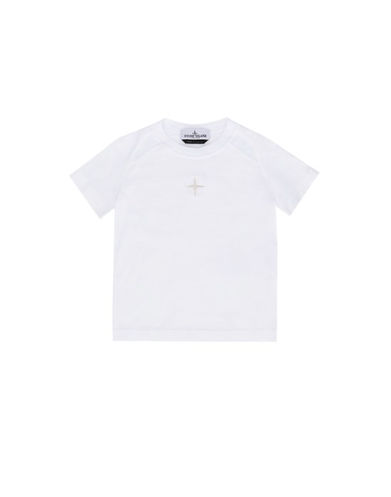 STONE ISLAND JUNIOR 20551 Short sleeve t-shirt Man White