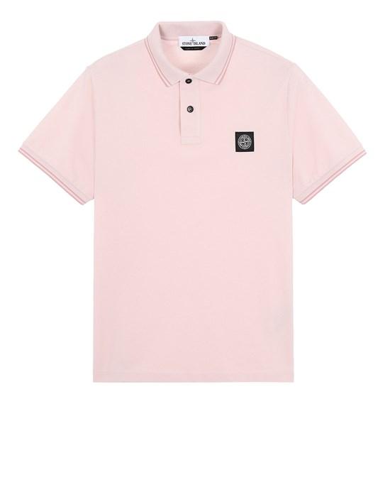 STONE ISLAND 22S18 Polo shirt Man Pastel pink