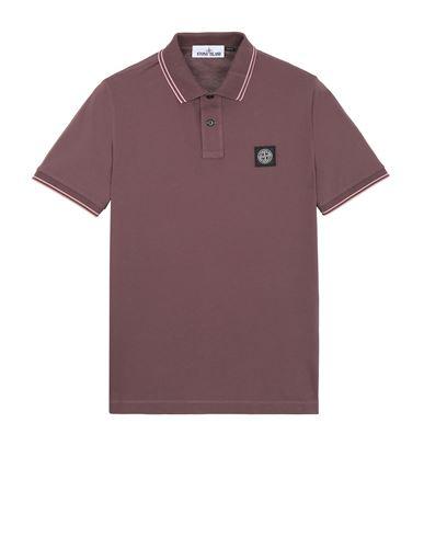 STONE ISLAND 22S18 Polo shirt Man Dark Burgundy USD 125