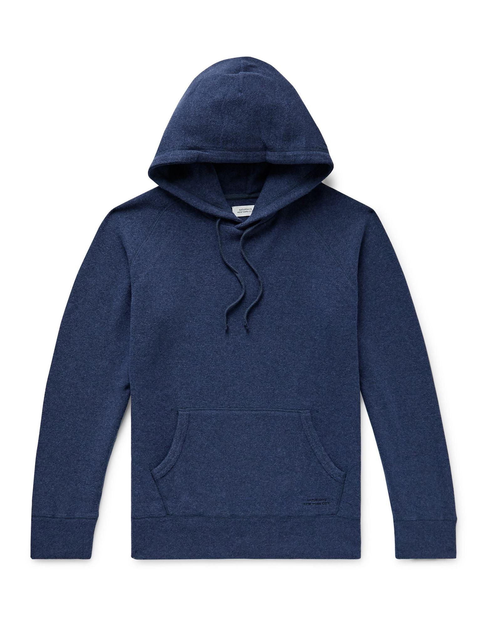 《セール開催中》SATURDAYS NEW YORK CITY メンズ スウェットシャツ ブルー S ウール 47% / コットン 39% / ナイロン 14%