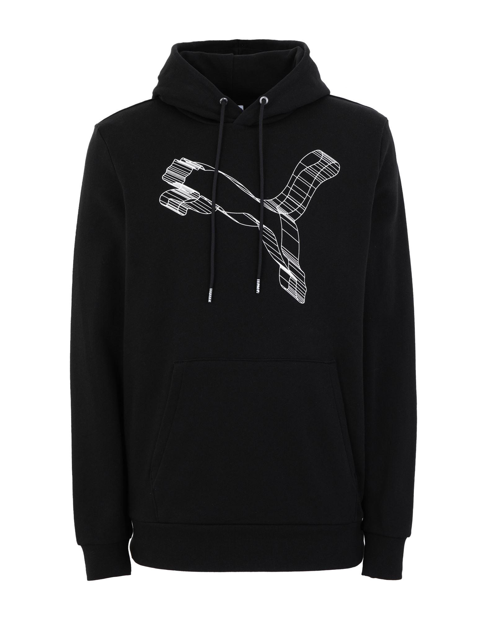 《セール開催中》PUMA メンズ スウェットシャツ ブラック S コットン 100% Avenir Hoodie TR