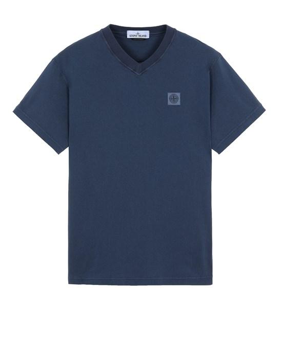 STONE ISLAND 23857 'FISSATO' TREATMENT  Short sleeve t-shirt Man Avio Blue