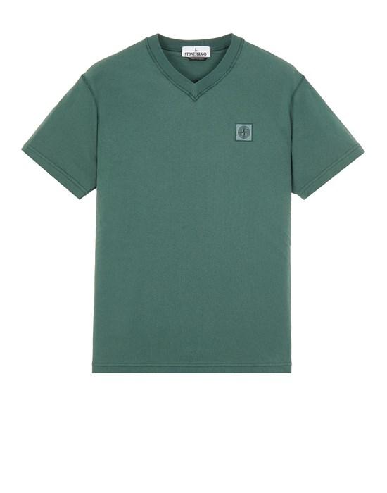 STONE ISLAND 23857 'FISSATO' TREATMENT  Short sleeve t-shirt Man Dark Teal Green