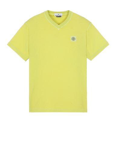 STONE ISLAND 23857 'FISSATO' TREATMENT  반소매 티셔츠 남성 피스타치오 그린 KRW 176300