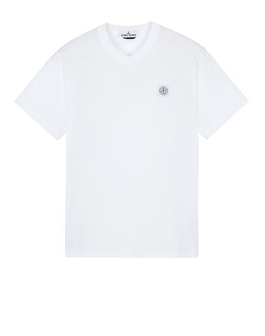 STONE ISLAND 23857 'FISSATO' TREATMENT  Short sleeve t-shirt Man White EUR 115
