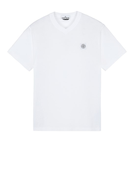 STONE ISLAND 23857 'FISSATO' TREATMENT  Short sleeve t-shirt Man White