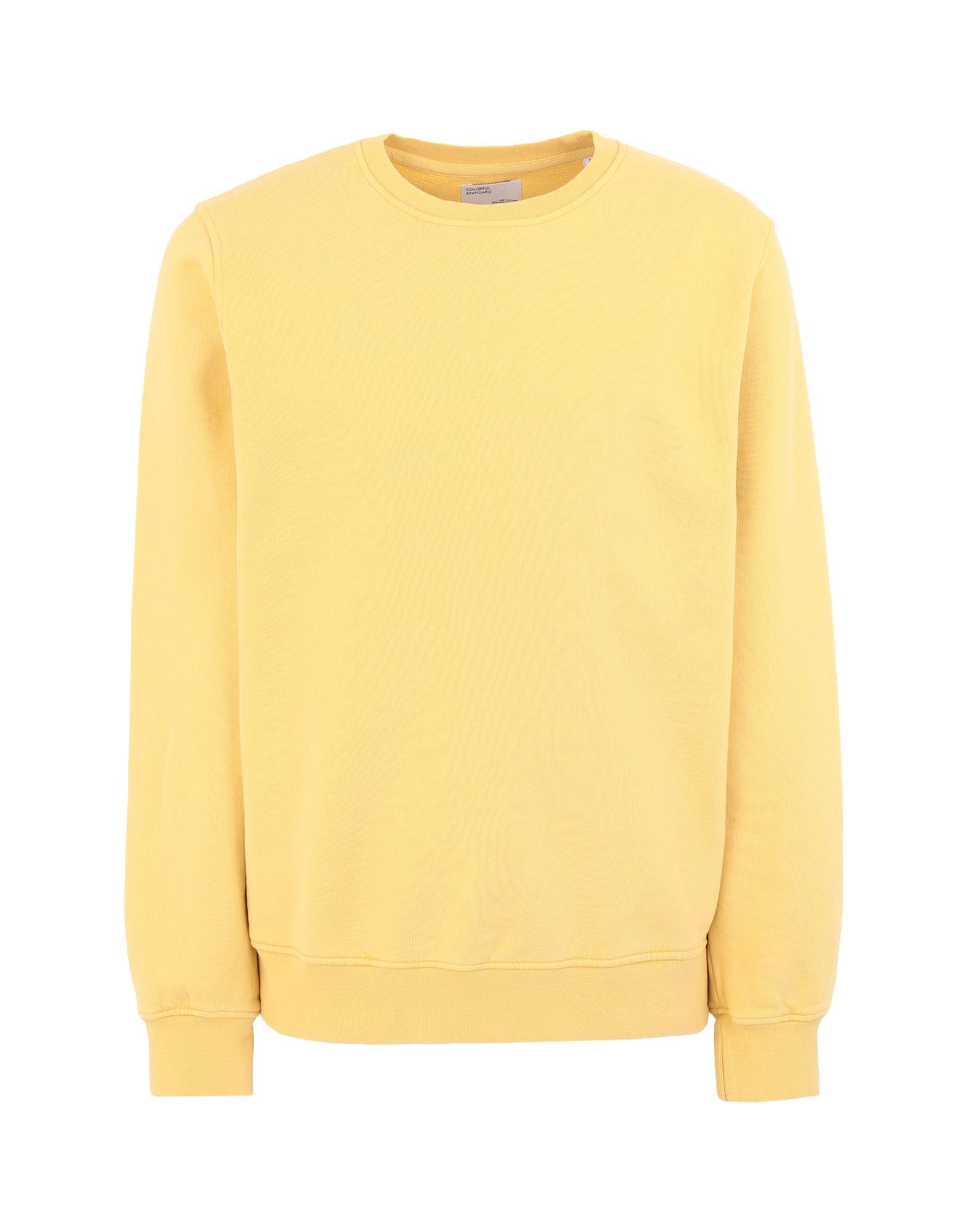 《セール開催中》COLORFUL STANDARD メンズ スウェットシャツ イエロー S オーガニックコットン 100%