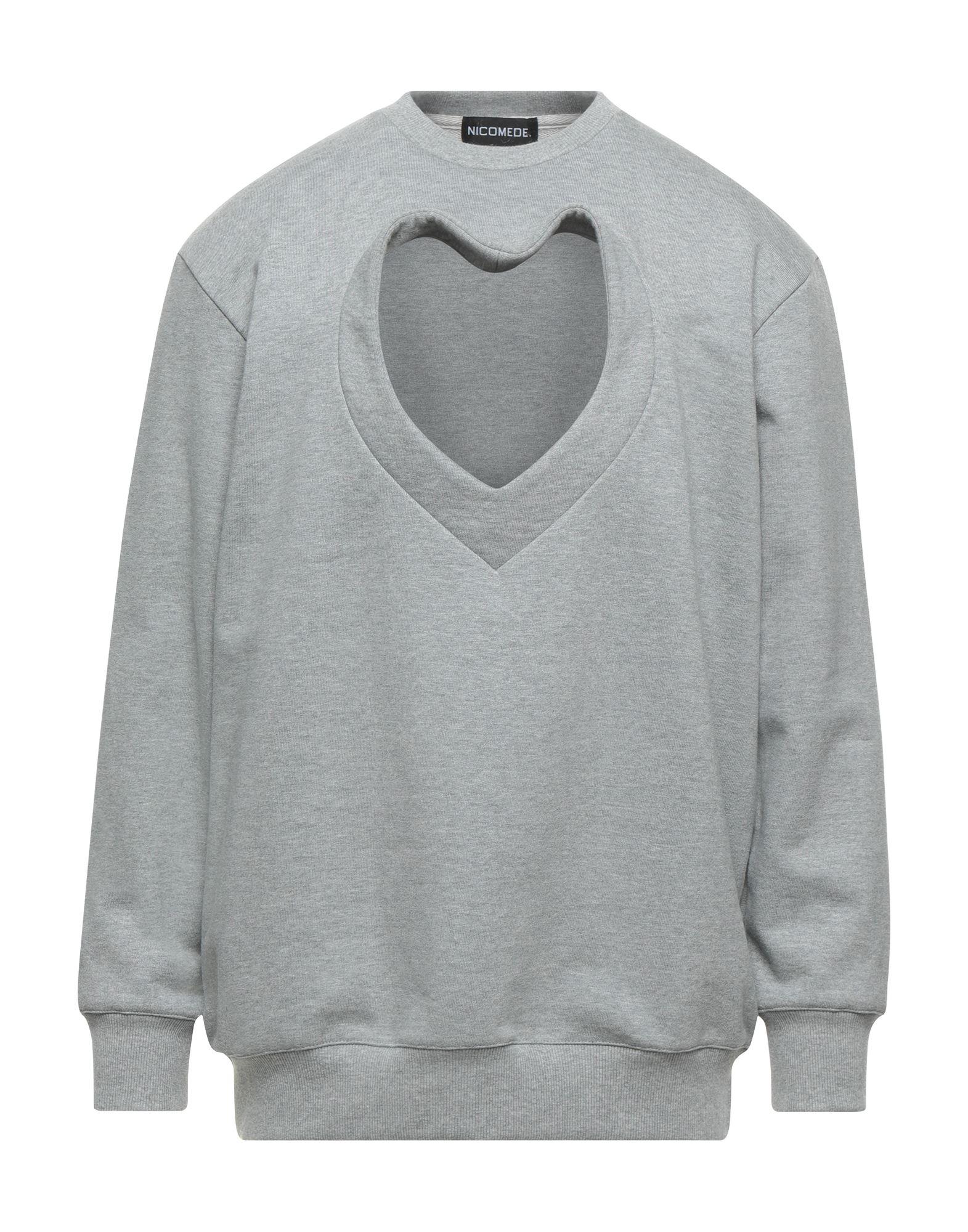 《セール開催中》NICOMEDE. メンズ スウェットシャツ グレー S コットン 96% / ポリウレタン 4%