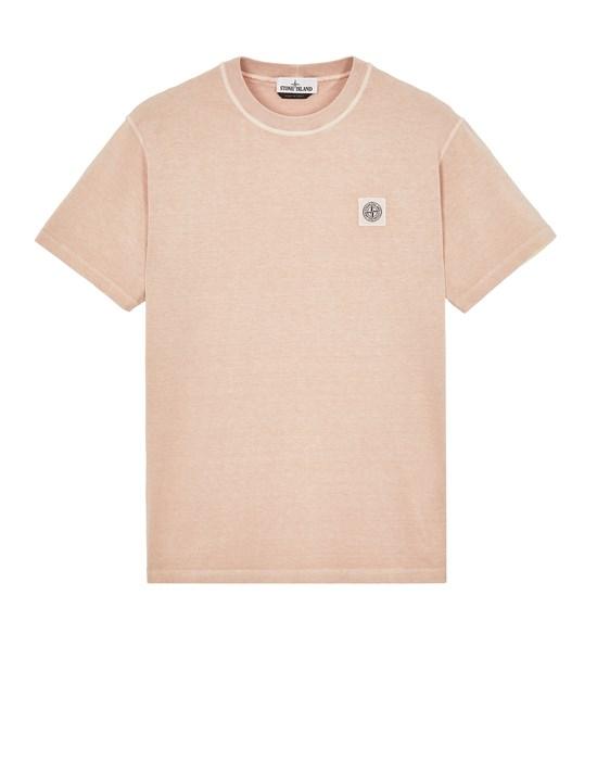 Short sleeve t-shirt Man 23742 20/1 COTTON JERSEY 'FISSATO' EFFECT_SLIM FIT Front STONE ISLAND