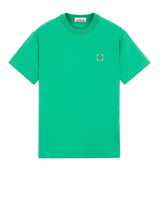 短袖 T 恤 男士 23742 20/1 COTTON JERSEY 'FISSATO' EFFECT_SLIM FIT Front STONE ISLAND