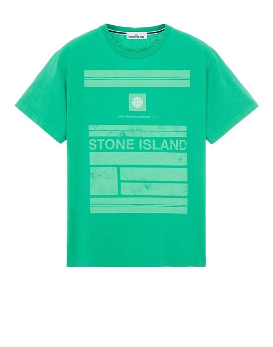 Short sleeve t-shirt Man 2NS78 COTTON JERSEY 'MOSAIC ONE' PRINT_SLIM FIT Front STONE ISLAND