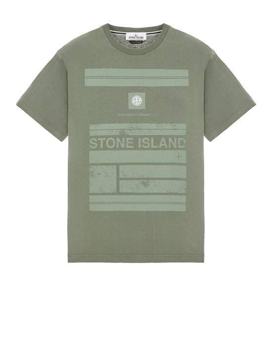 STONE ISLAND 2NS78 COTTON JERSEY 'MOSAIC ONE' PRINT_SLIM FIT Short sleeve t-shirt Man Sage Green