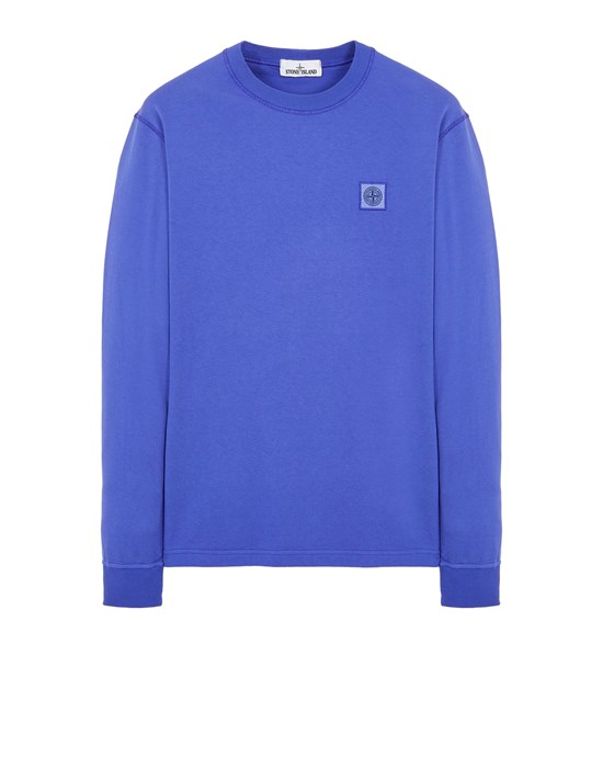Long sleeve t-shirt Man 21842 COTTON JERSEY 'FISSATO' EFFECT_SLIM FIT Front STONE ISLAND