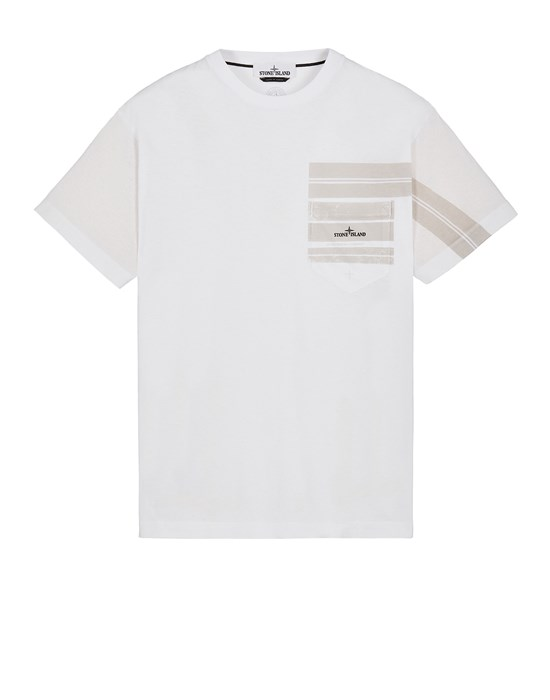 Short sleeve t-shirt Man 24679 COTTON JERSEY 'MOSAIC TWO' PRINT_SLIM FIT Front STONE ISLAND