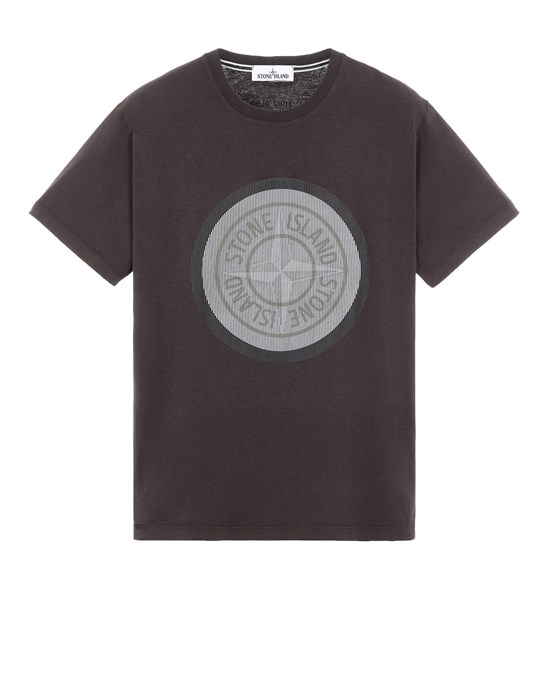 Short sleeve t-shirt Man 2NS89 COTTON JERSEY, 'LENTICULAR TWO' PRINT_SLIM FIT Front STONE ISLAND
