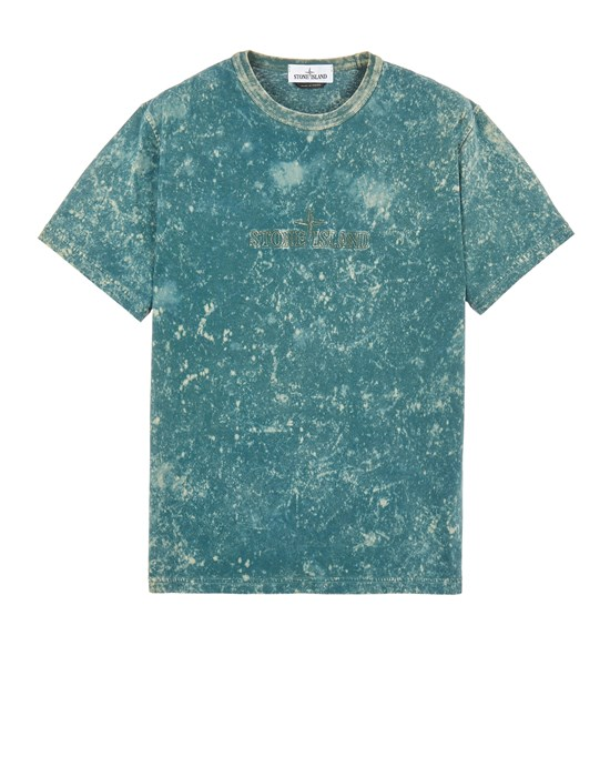 Short sleeve t-shirt Man 20945 OFF-DYE OVD TREATMENT_COMFORTABLE FIT Front STONE ISLAND