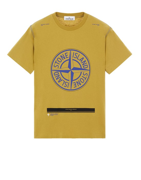T-shirt manches courtes Homme 20892 COTTON JERSEY 'ULTRA INSTITUTIONAL ONE' PRINT_COUPE CLASSIQUE Front STONE ISLAND