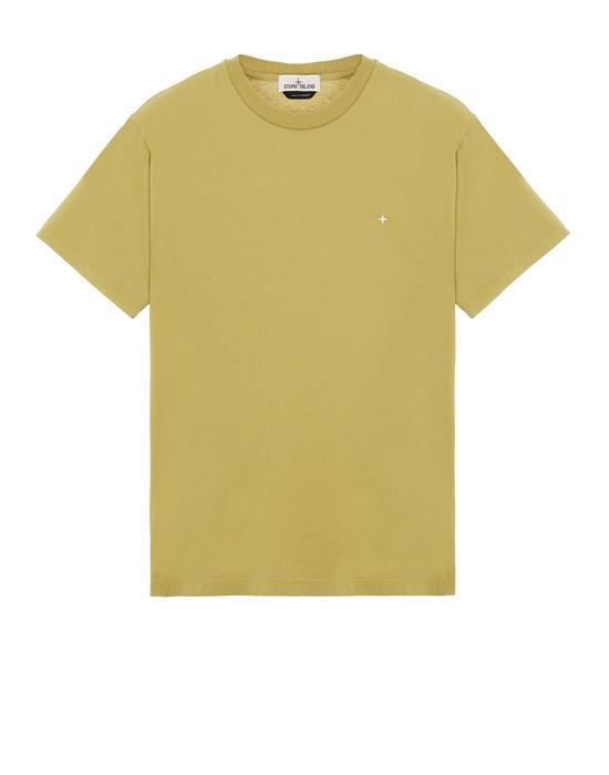 STONE ISLAND 21213 60/2 COTTON JERSEY_SLIM FIT Short sleeve t-shirt Man Dark Beige
