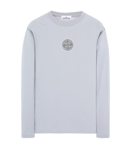 Long sleeve t-shirt Man 20793 COTTON JERSEY 'ULTRA INSTITUTIONAL TWO' PRINT_REGULAR FIT Front STONE ISLAND