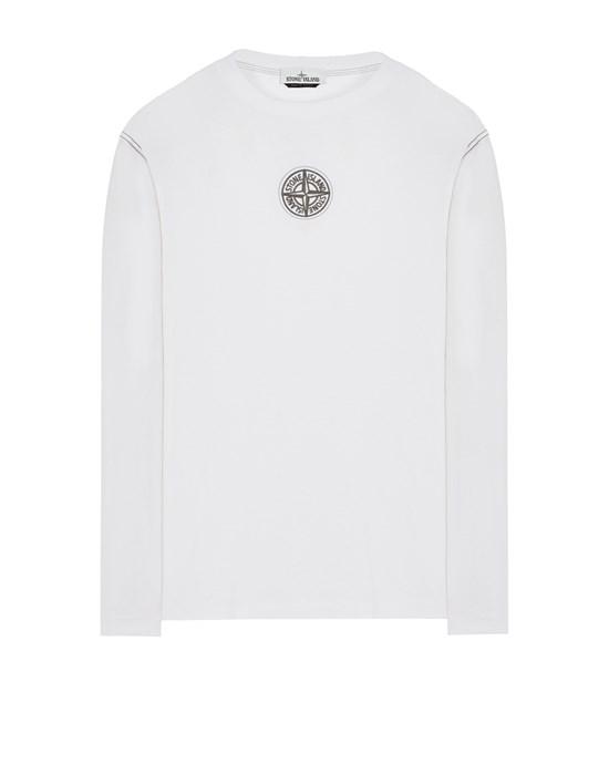 STONE ISLAND 20793 COTTON JERSEY 'ULTRA INSTITUTIONAL TWO' PRINT_REGULAR FIT Langärmliges Shirt Herr Weiß