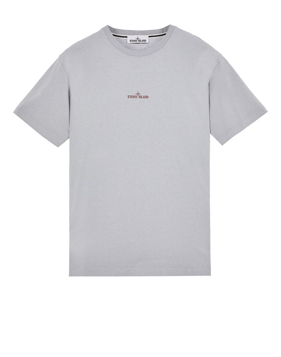Short sleeve t-shirt Man 2NS83 COTTON JERSEY, 'MIXED MEDIA TWO' PRINT_SLIM FIT Front STONE ISLAND