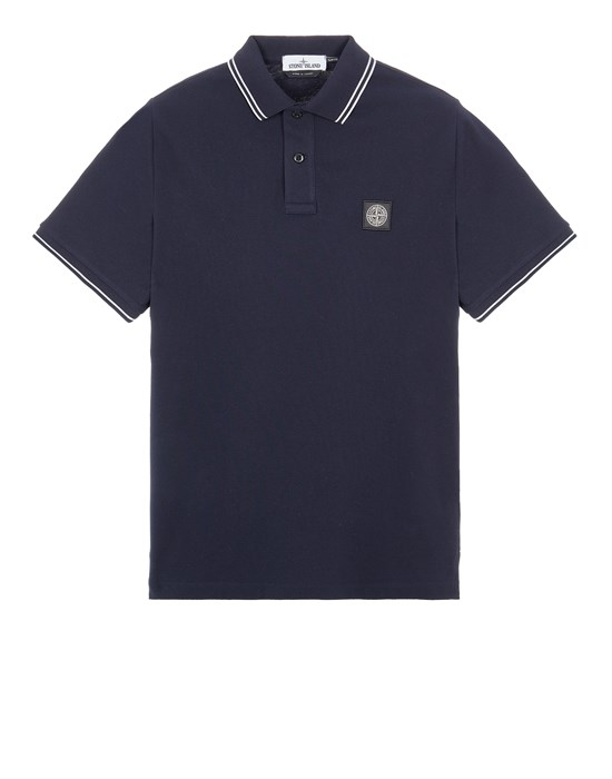Polo shirt Man 22S18 STRETCH COTTON PIQUÉ_SLIM FIT Front STONE ISLAND