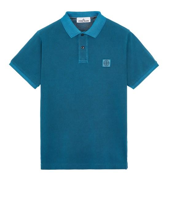 Polo shirt Man 22S67 COTTON PIQUÉ PIGMENT DYED_SLIM FIT Front STONE ISLAND
