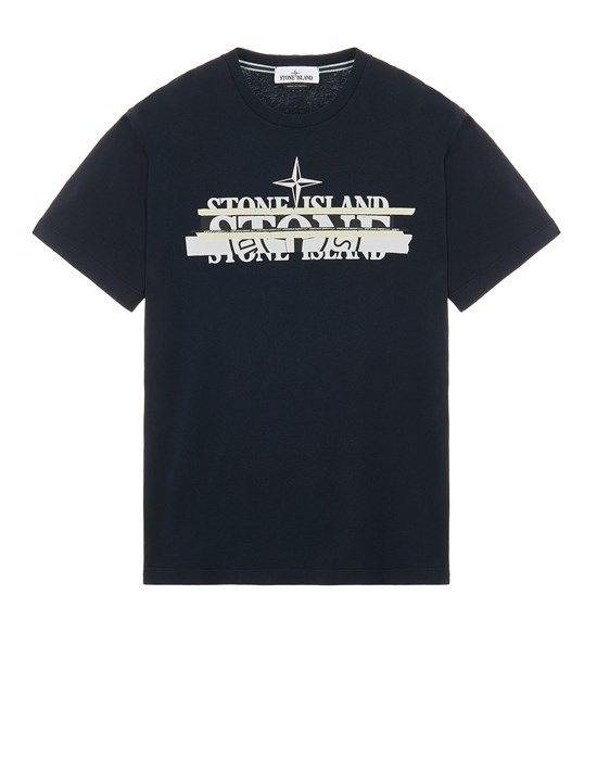 Short sleeve t-shirt Man 2NS82 COTTON JERSEY 'MIXED MEDIA ONE' PRINT_SLIM FIT Front STONE ISLAND