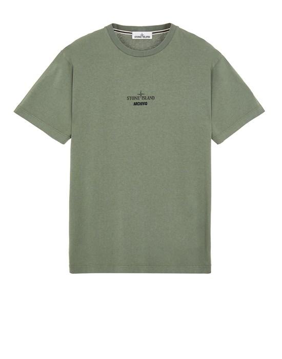 Short sleeve t-shirt Man 2NS91 COTTON JERSEY,'ARCHIVIO' PRINT_SLIM FIT Front STONE ISLAND