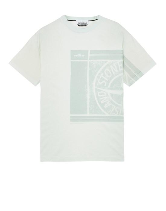 반소매 티셔츠 남성 2NS81 COTTON JERSEY, 'MOSAIC FOUR' PRINT, GARMENT DYED_SLIM FIT Front STONE ISLAND