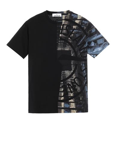 STONE ISLAND 2NS88 'URBAN 3' Short sleeve t-shirt Man Black EUR 189
