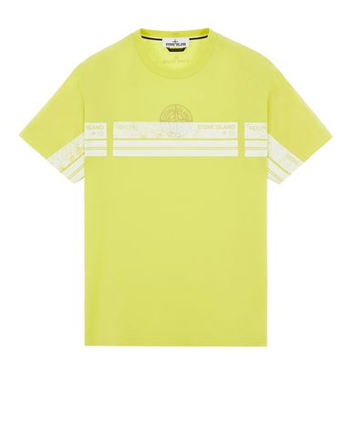 STONE ISLAND 2NS74 'BLOCK THREE' Short sleeve t-shirt Man Pistachio Green USD 143