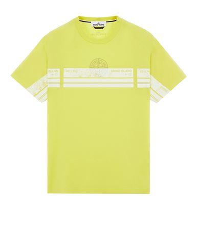 STONE ISLAND 2NS74 'BLOCK THREE' T-Shirt Herr Pistaziengrün EUR 145